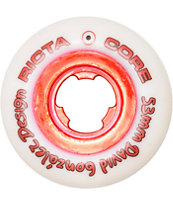 Ricta Chrome Core Gonzalez 53mm White & Red Skateboard Wheels