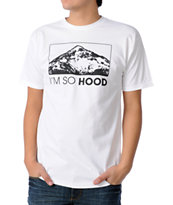 Casual Industrees Oregon Im So Hood White Tee Shirt