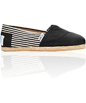 Toms Classics Girls University Black Canvas Shoe