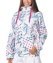 Empyre Girls 2012 Exhibitionist White Geo 10K Softshell Jacket