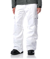 Empyre Girl 2012 Hoodwink White 10k Womens Snowboard Pants