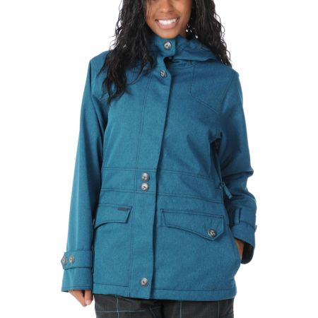 Empyre Girls 2012 Nomad Blue Solid 10K Snowboard Jacket
