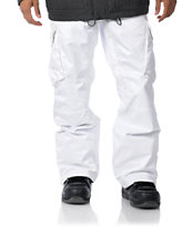 Empyre Skeletor White 10K 2012 Guys Snowboard Pants