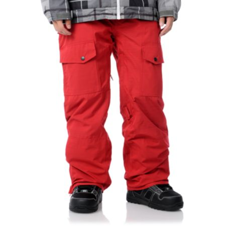 Aperture Drake 10K Red 2012 Guys Snowboard Pants