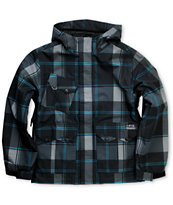 Empyre Descender 2012 Kids Black Plaid 10k Snowboard Jacket