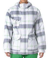 Empyre Decender 2012 White Plaid Guys 10K Snowboard Jacket