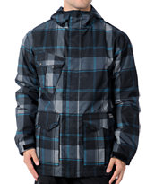 Empyre Descender 2012 Black Plaid 10k Men's Snowboard Jacket