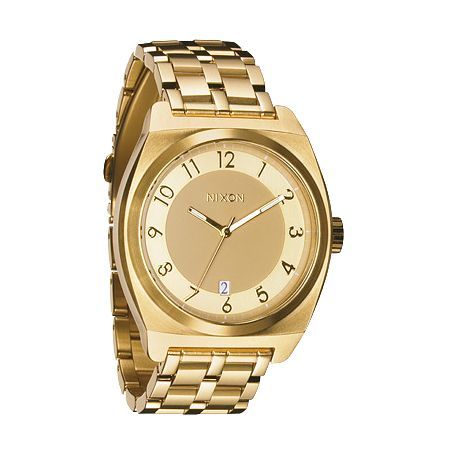 Nixon Monopoly Gold Analog Watch
