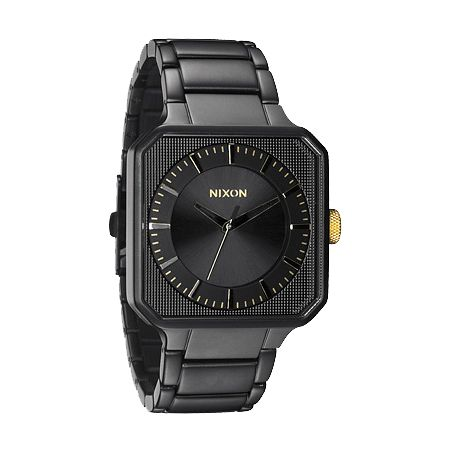 Nixon Platform Matte Black & Gold Analog Watch