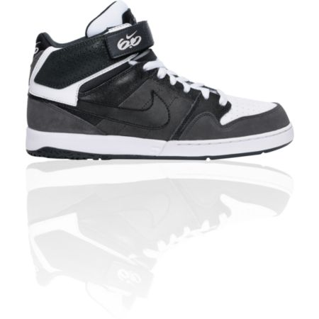 Nike 6.0 Zoom Mogan Mid 2 Grey, White, & Black Skate Shoe