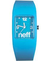 Neff Bandit Cyan Blue Wristband Watch
