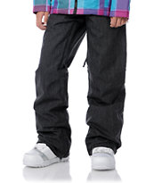 Empyre Girls 2012 Hilltop 2 Black Denim 10K Chino Snowboard Pants