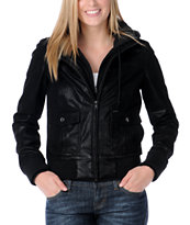 Obey Jealous Lover Black Nubuck Bomber Jacket