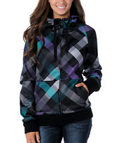 Empyre Girl Canyon Black Plaid 2012 Tech Fleece Zip Hoodie