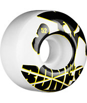 Bones Icons Yellow & White 52mm Skateboard Wheels