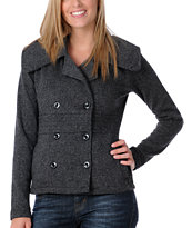 Element Girls Darian Charcoal Pea Coat