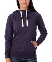 Zine Women's Purple Hooded Pullover Sweatshirt