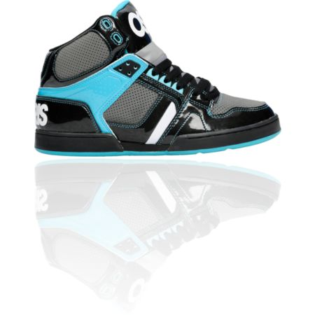 Osiris NYC 83 Black, Charcoal, & Teal Shoe