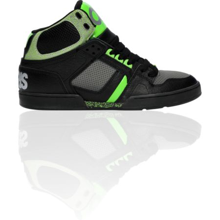 Osiris NYC 83 Black, Charcoal, & Green Shoe