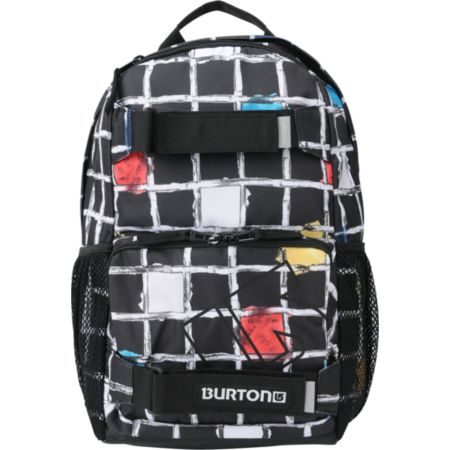 Burton Treble Yell Black Watercolor Square Girls Snow Backpack