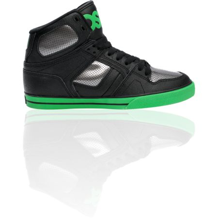 Osiris NYC 83 VLC Black, Gunmetal, & Green Shoe