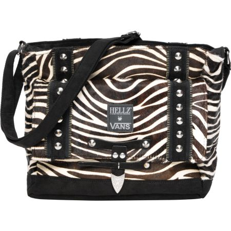 Vans x Hellz Girls White & Black Zebra Purse