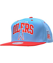 NFL Mitchell and Ness Houston Oilers Arch Snapback Hat