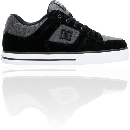 DC Pure XE Black & Grey Flannel Skate Shoe