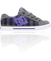 DC Shoes women's Chelsea Battleship and Velvet Purple Shoe