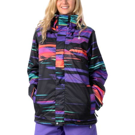 Volcom Girls Ayers Slash Stripe 2012 Snowboard Jacket