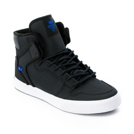 Supra Vaider Black & Royal Raptor TUF Shoe