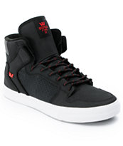 Supra Vaider Black & Red Raptor TUF Shoe