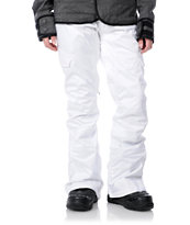 Burton Girls 2012 Indulgence White 10K Snowboard Pants