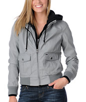 Obey Jealous Lover 2 Women's Grey Bomber Jacket