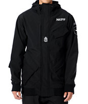 Neff Assault 10K Black 2012 Technical Softshell Guys Snowboard Jacket