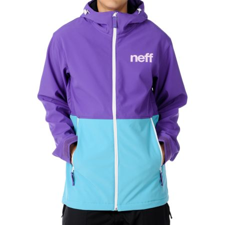 Neff Daily 10K Purple & Teal 2012 Technical Softshell Guys Snowboard Jacket