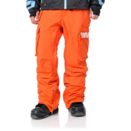 Thirtytwo Blahzay 10K Orange 2012 Guys Snowboard Pants