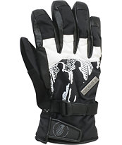 Grenade Apache 2012 Guys Black & White Gloves