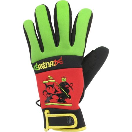 Grenade Bob Gnarly Rasta 2012 Guys Snowboard Pipe Gloves