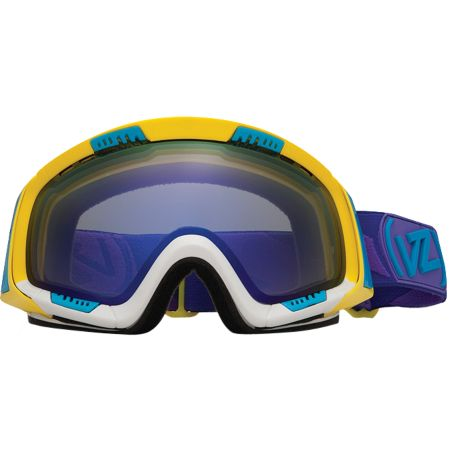 Von Zipper Feenom 2012 Color Blok Yellow Snowboard Goggles