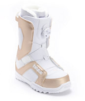 Thirtytwo STW BOA White & Gold 2012 Girls Snowboard Boots