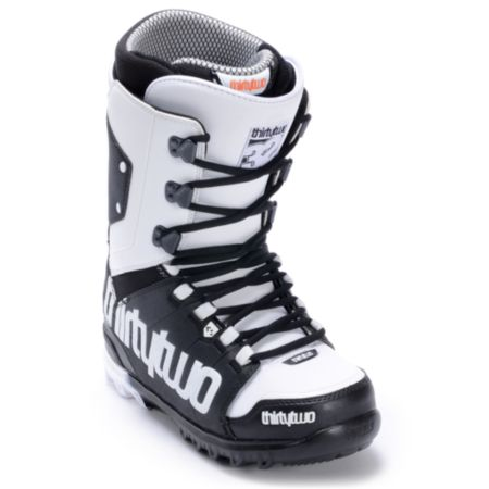 Thirtytwo Lashed Black & White 2012 Guys Snowboard Boots