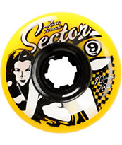 Sector 9 Race Formula Yellow 70mm Skateboard Wheels