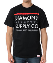 Diamond Supply Roots Black Tee Shirt