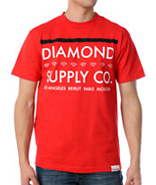 Diamond Supply Roots Red Tee Shirt