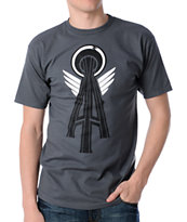 Casual Industrees Alpha Space Needle Charcoal Tee Shirt