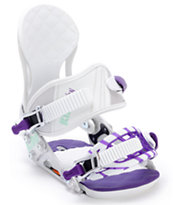 Ride VXn White 2012 Girls Snowboard Bindings