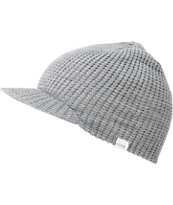 Coal Grey Staple Visor Beanie