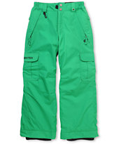 686 Boys Ridge 2012 Green 5K Snowboard Pants