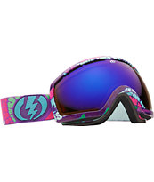 Electric EG2.5 Tune In 2012 Bronze and Blue Chrome Snowboard Goggles